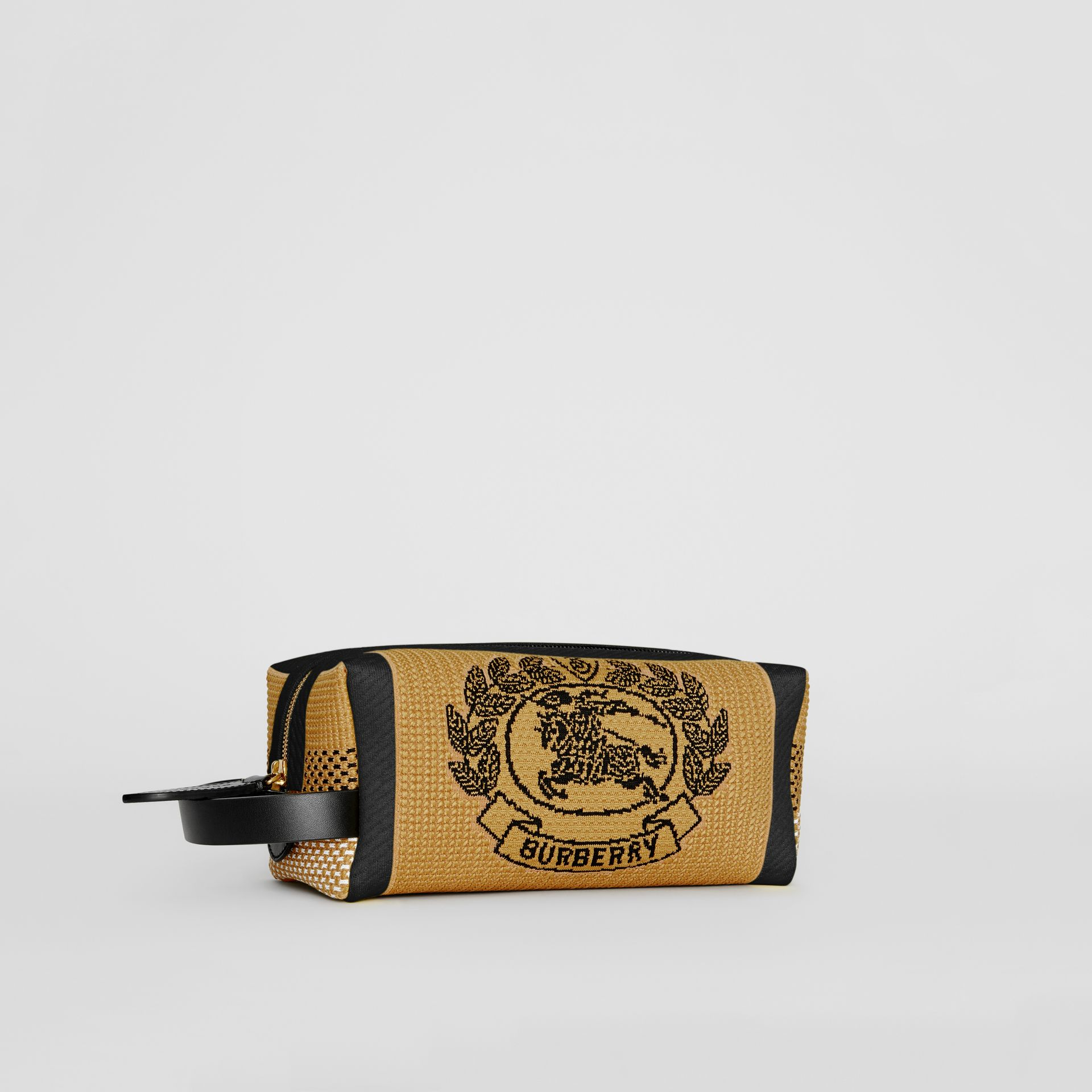 Archive Crest Knitted Pouch in Black | Burberry United States - gallery image 8