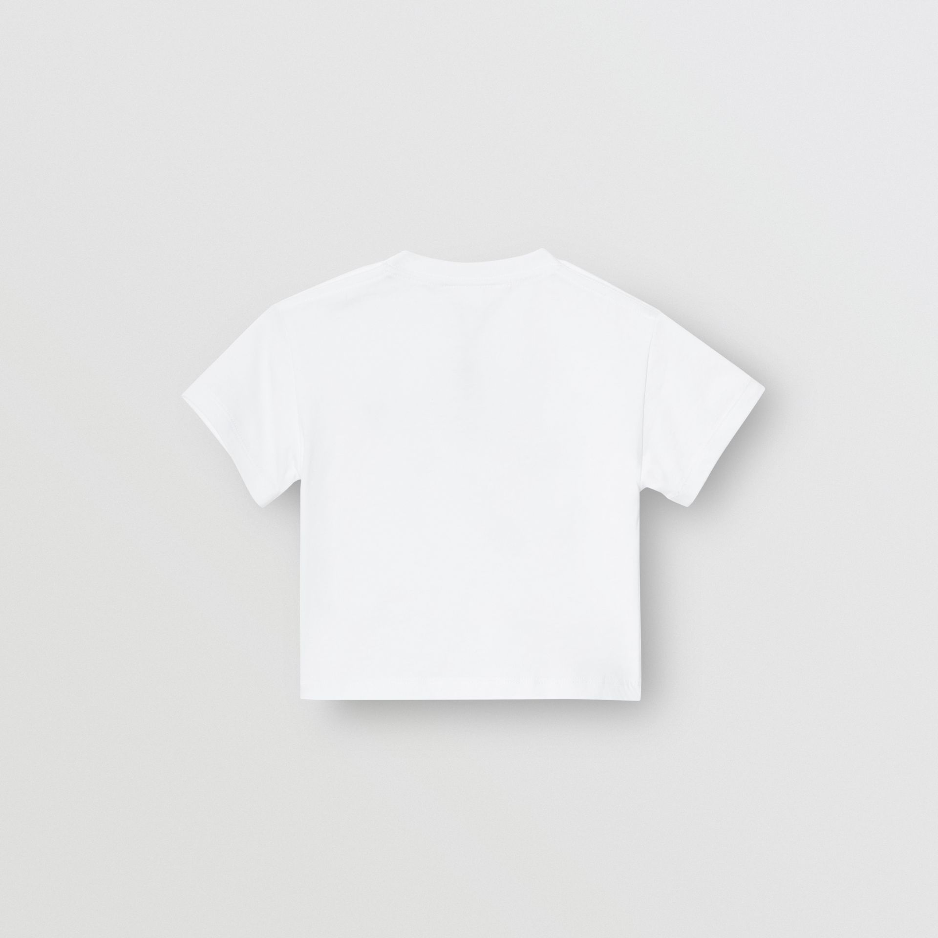 Logo Print Cotton T-shirt in White - Children | Burberry United Kingdom - gallery image 3