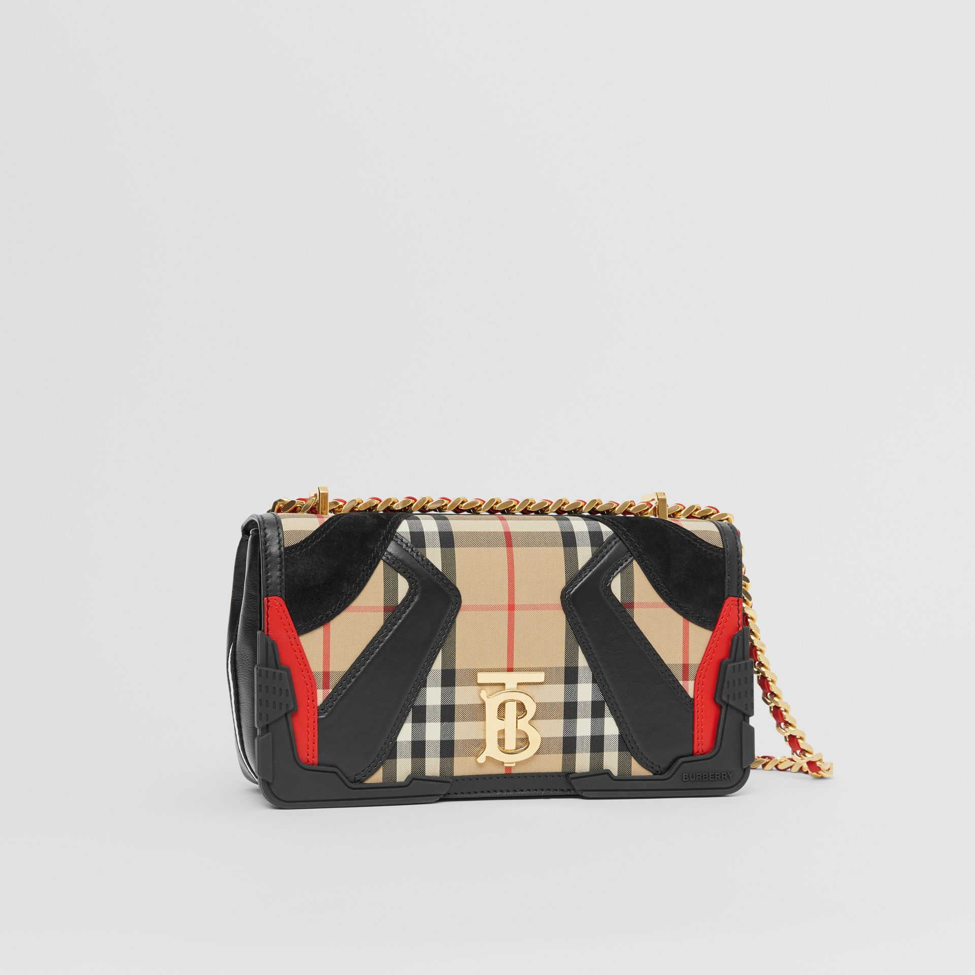 Small Appliqué Vintage Check Lola Bag in Archive Beige - Women | Burberry - gallery image 6