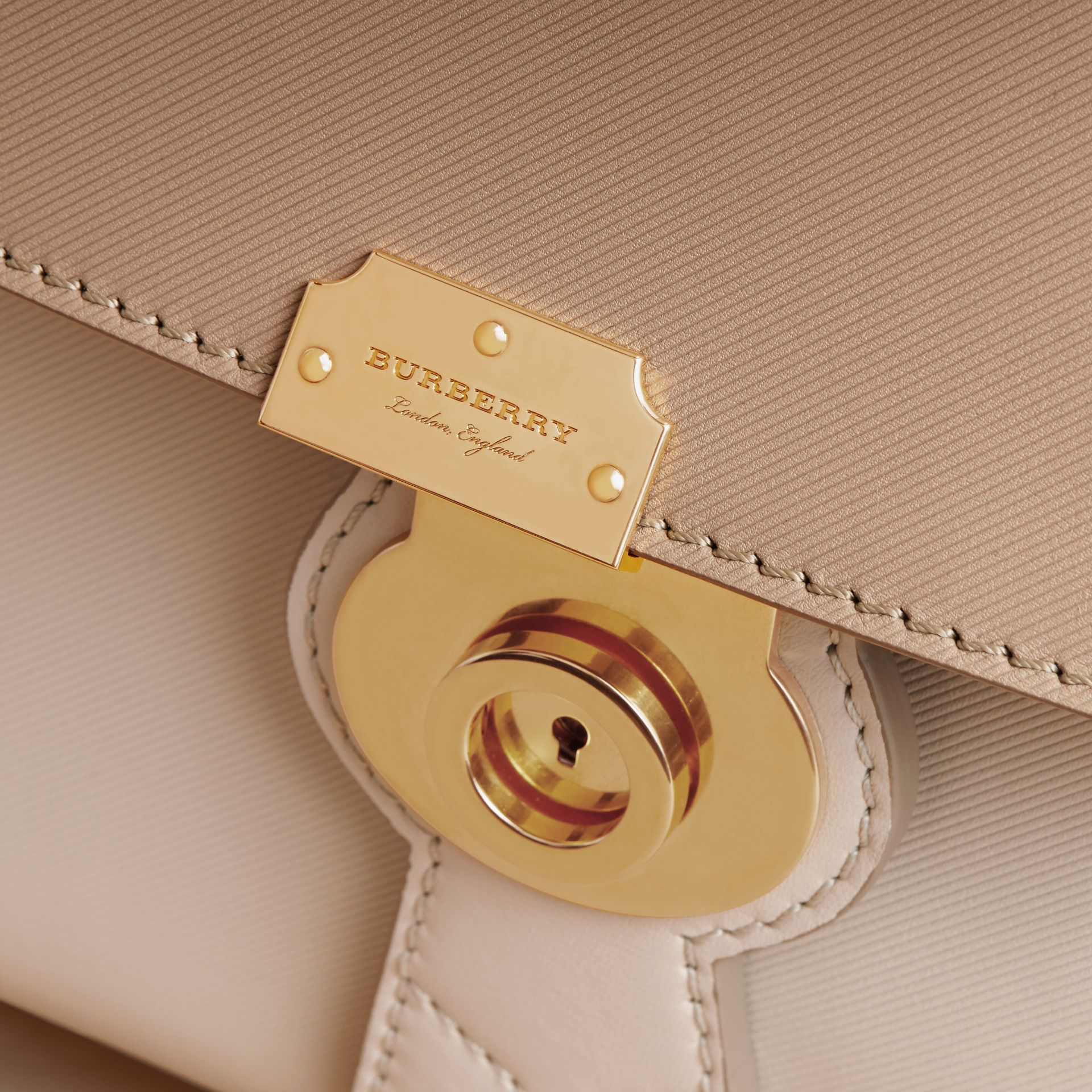 The Medium DK88 Top Handle Bag in Limestone/honey - Women | Burberry Singapore - gallery image 1