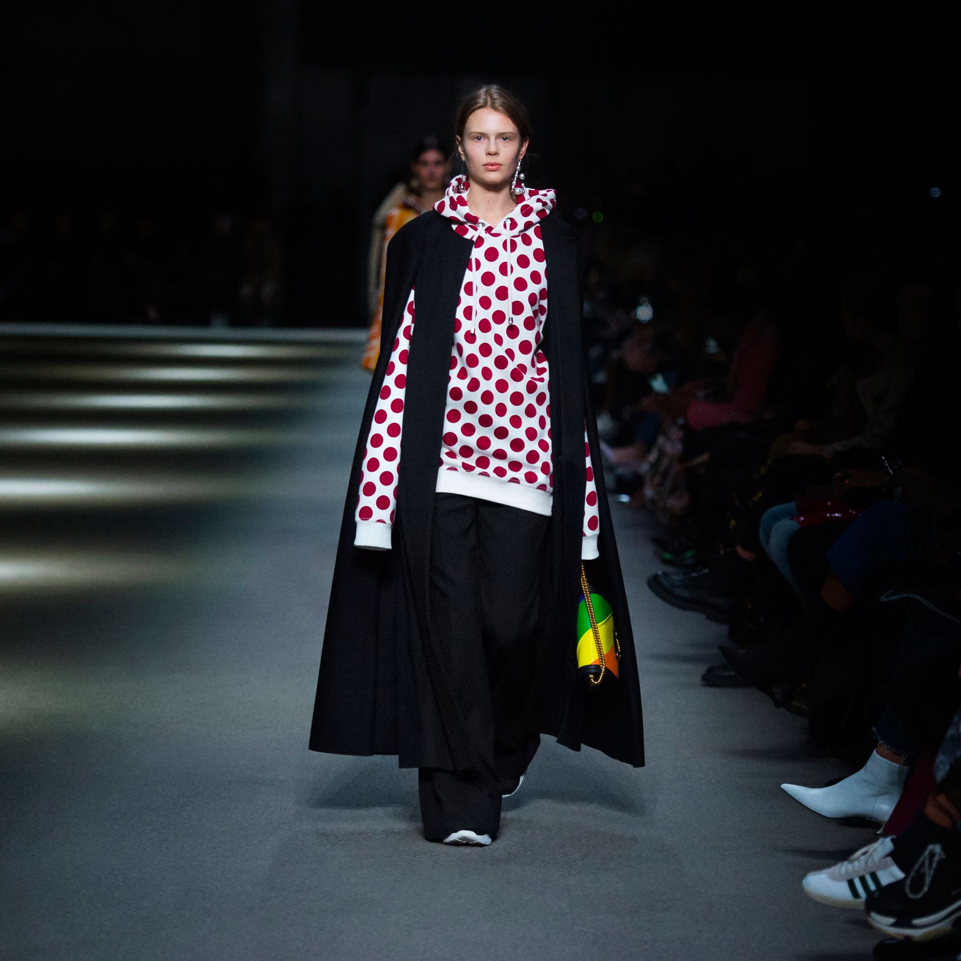 Long Doeskin Wool Cape in Black - Women | Burberry Hong Kong - gallery image 4