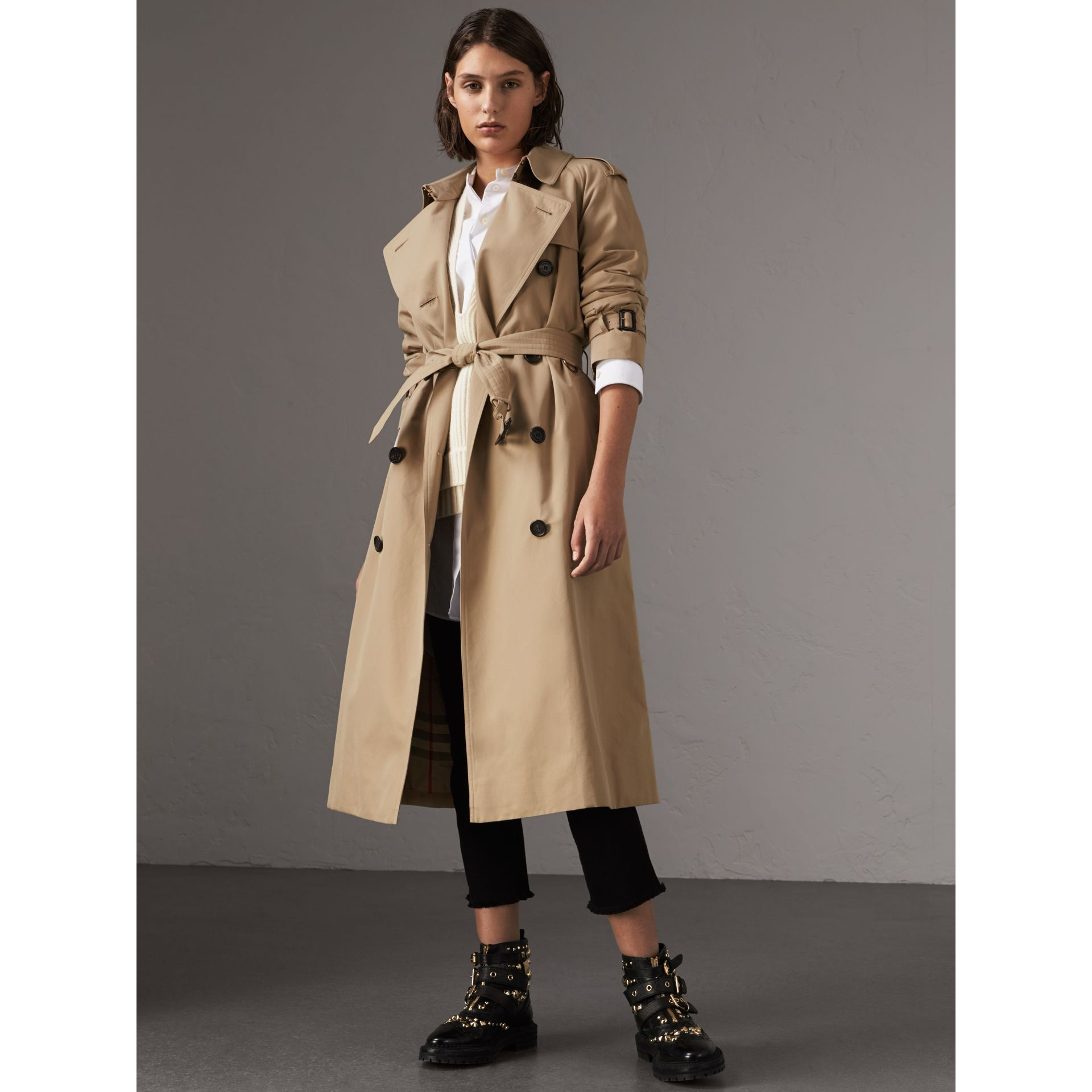 The Westminster – Extra-long Trench Coat in Honey - Women | Burberry - gallery image 1