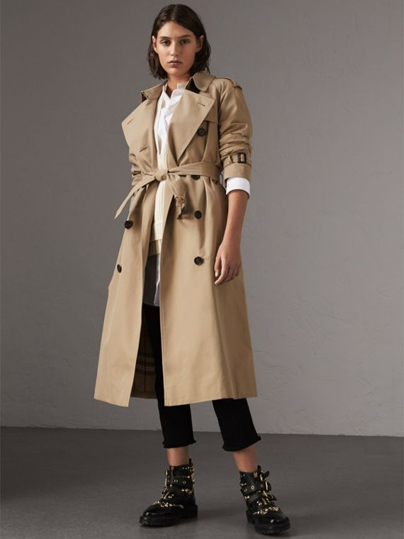 The Westminster – Extralanger Trenchcoat (Honiggelb)