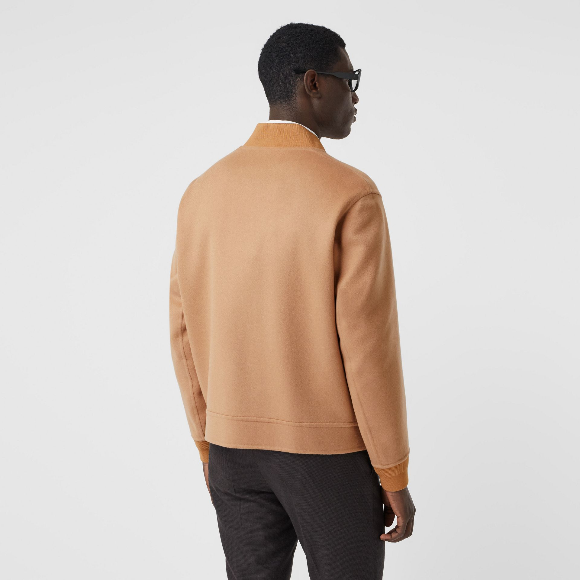 Double-faced Cashmere Bomber Jacket in Dark Camel - Men | Burberry - gallery image 2