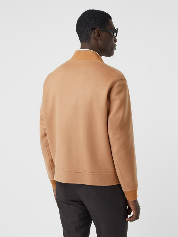 Double-faced Cashmere Bomber Jacket in Dark Camel - Men | Burberry - cell image 2