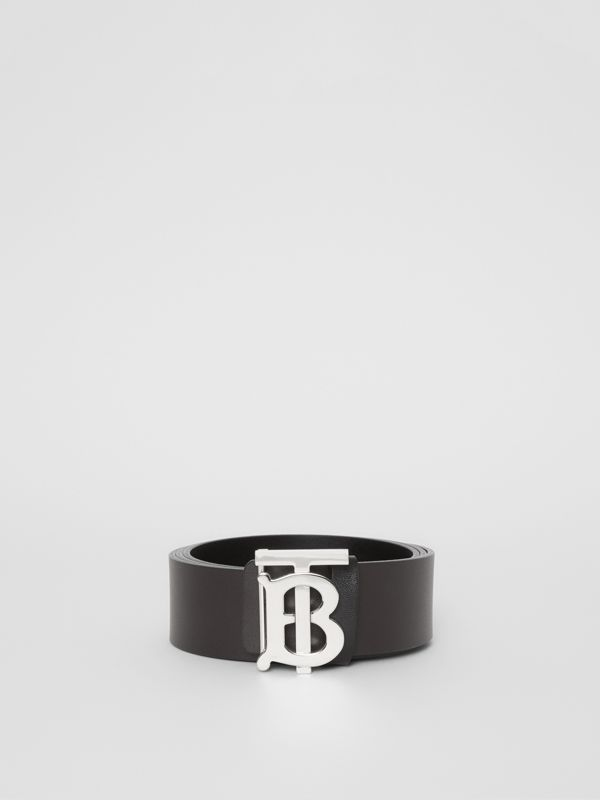 Reversible Monogram Motif Leather Belt in Black/malt Brown - Men | Burberry Canada - cell image 2