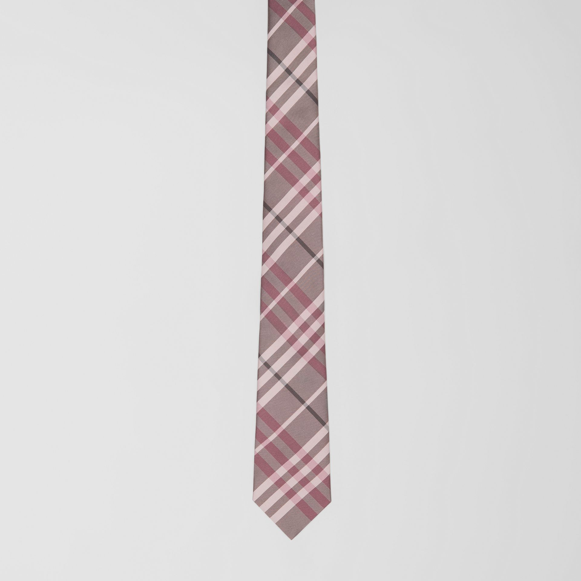 Classic Cut Vintage Check Silk Tie in Chalk Pink - Men | Burberry - gallery image 3