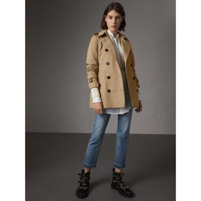 The Kensington – Short Heritage Trench Coat in Honey - Women ...