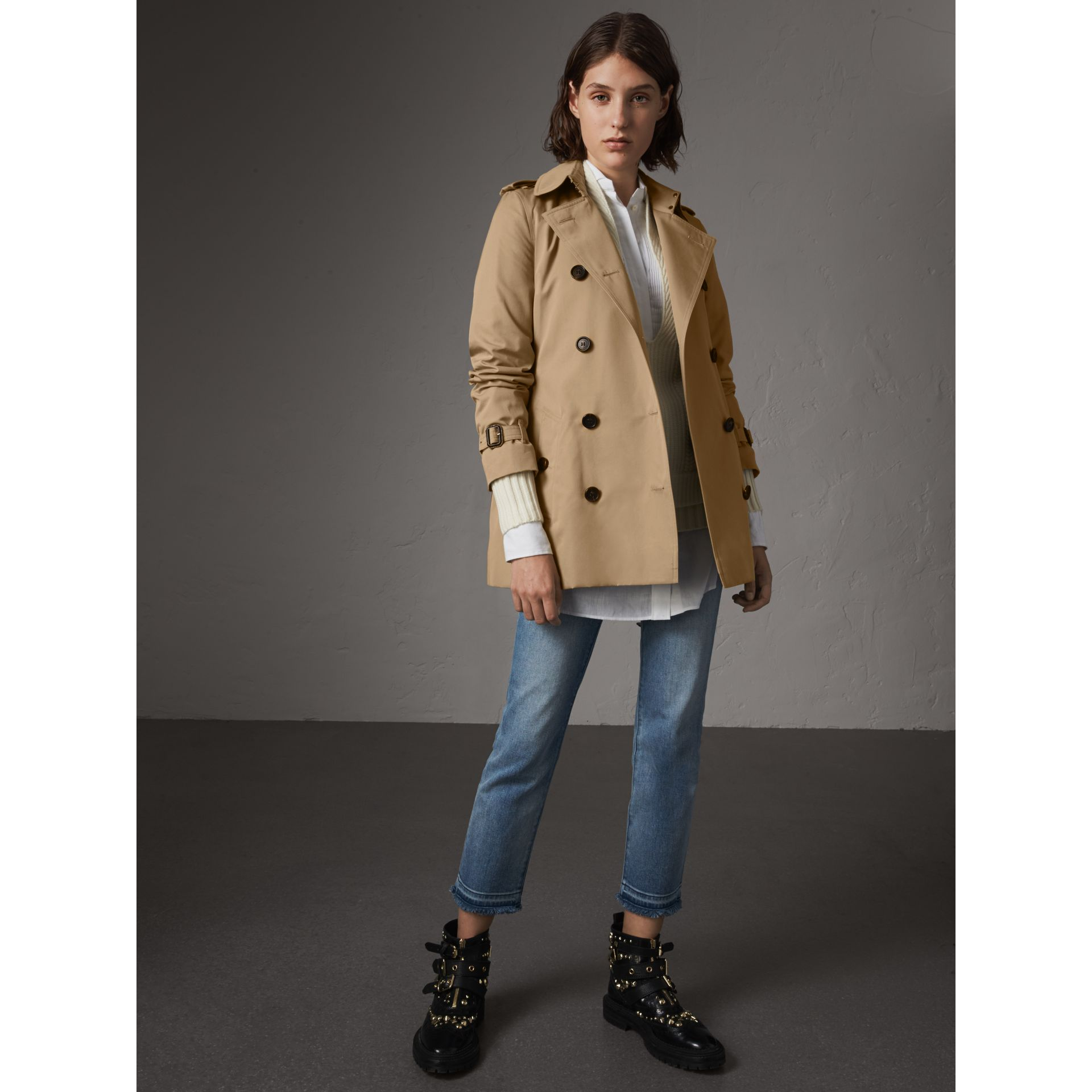 The Kensington – Trench court (Miel) - Femme | Burberry - photo de la galerie 0