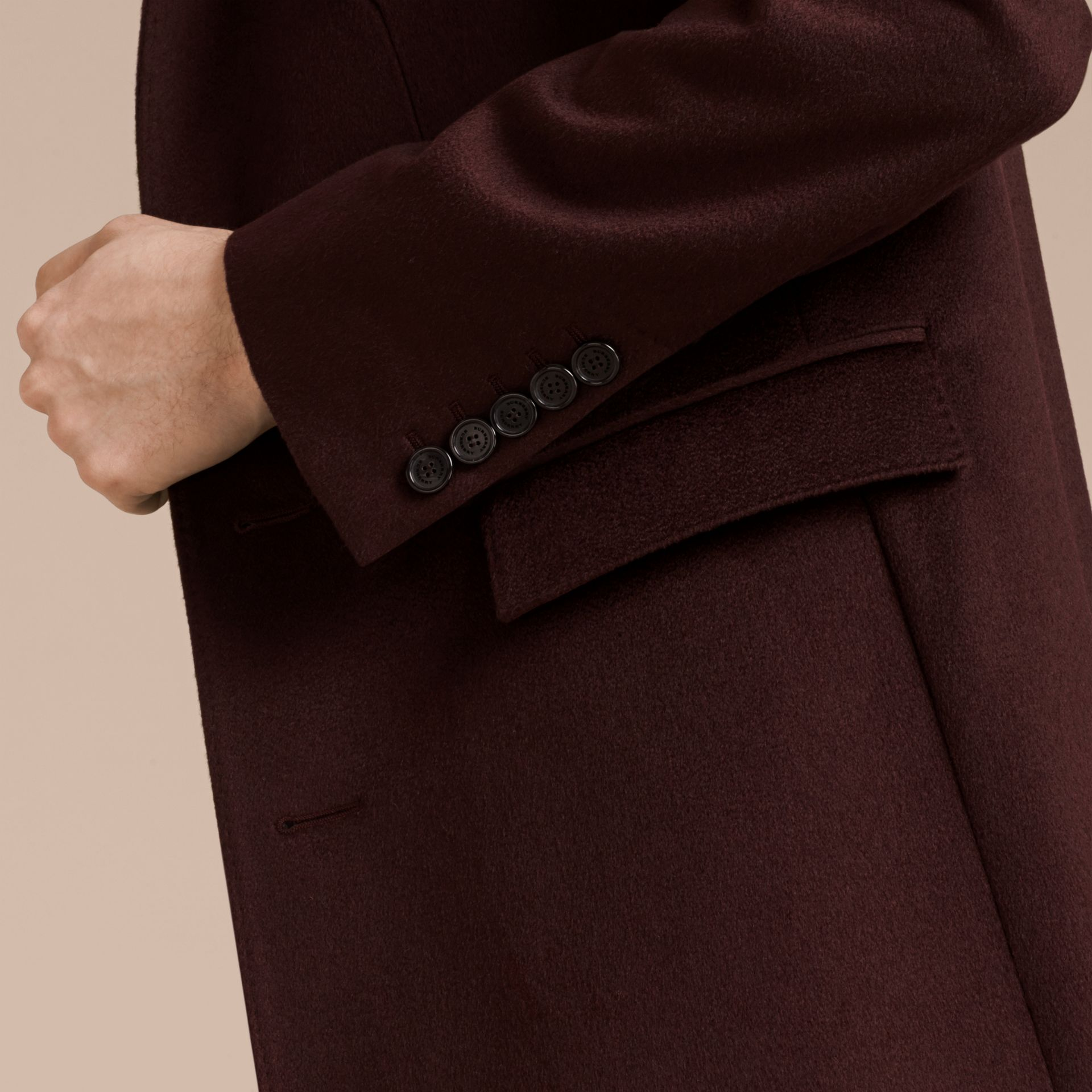 Plum Cashmere Overcoat - gallery image 6