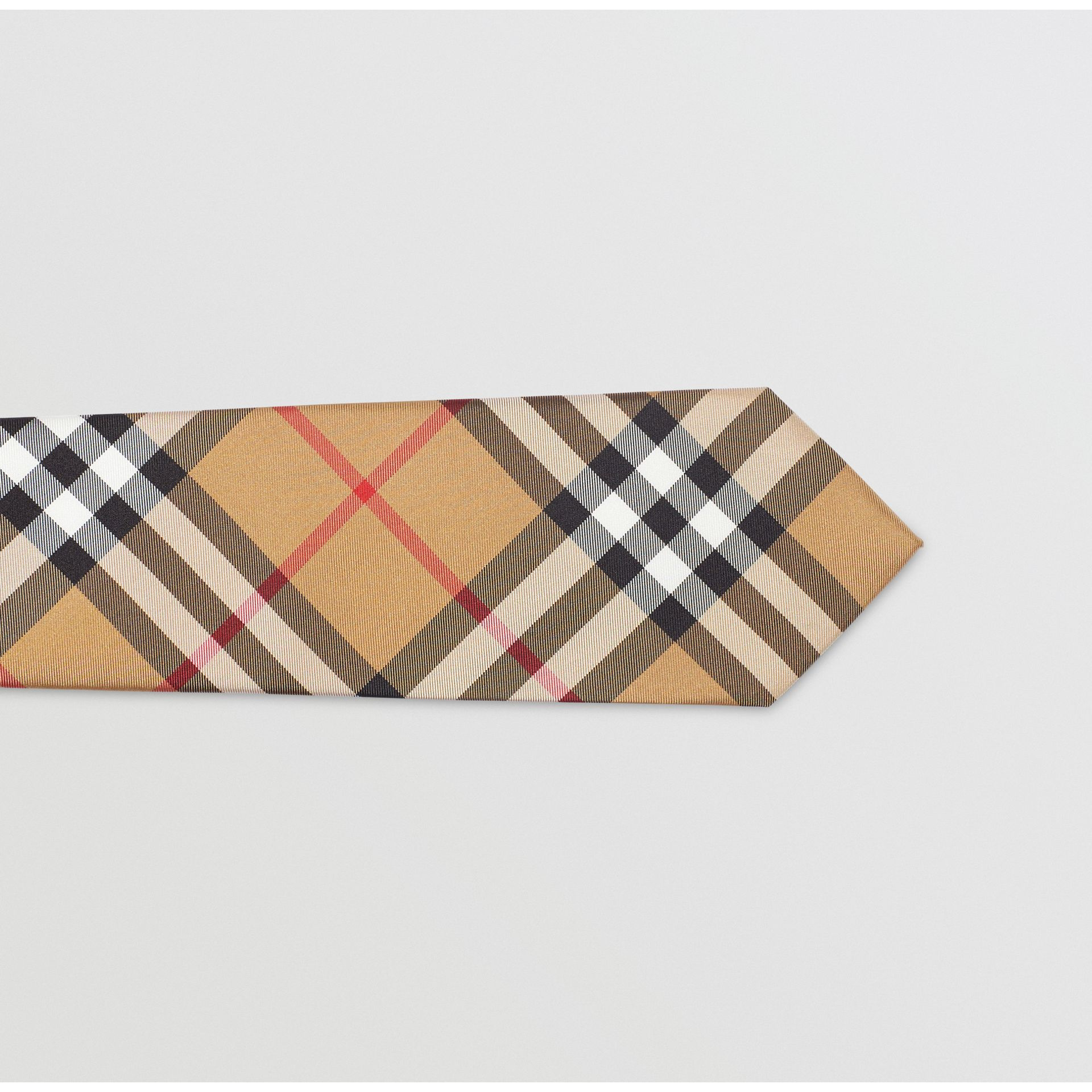 Modern Cut Vintage Check Silk Tie in Antique Yellow - Men | Burberry Australia - gallery image 1