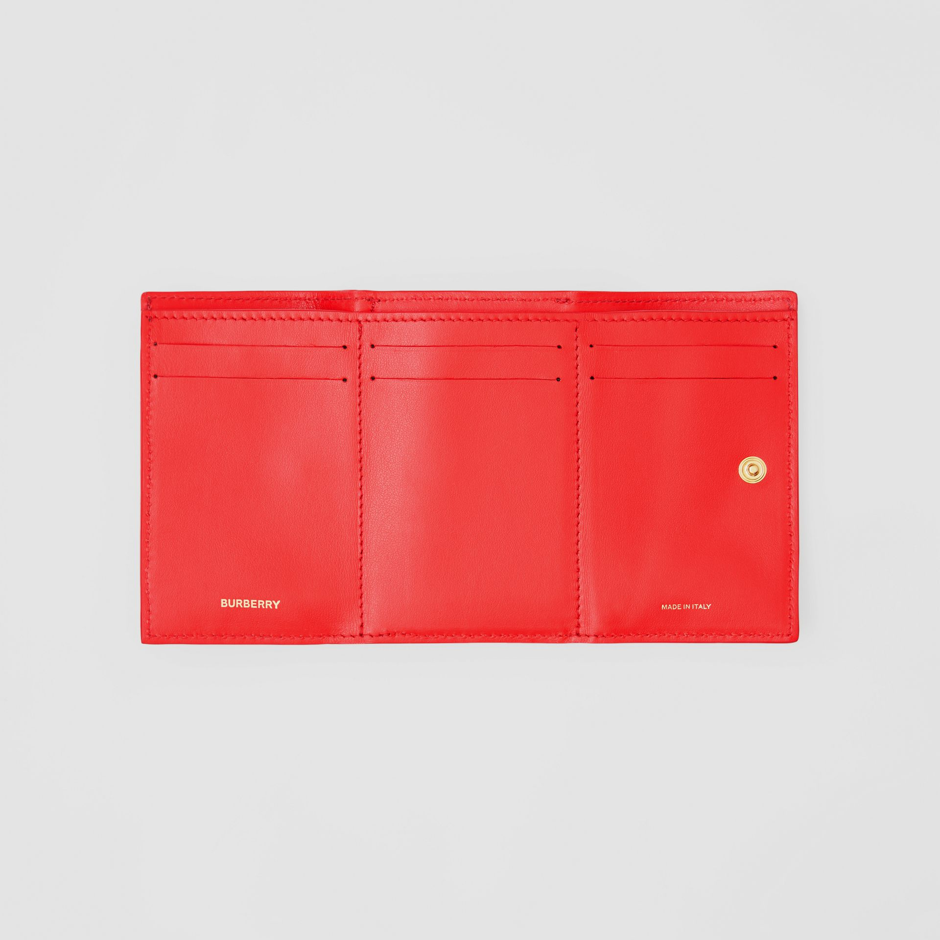 Small Grainy Leather Folding Wallet in Bright Red - Women | Burberry - gallery image 2