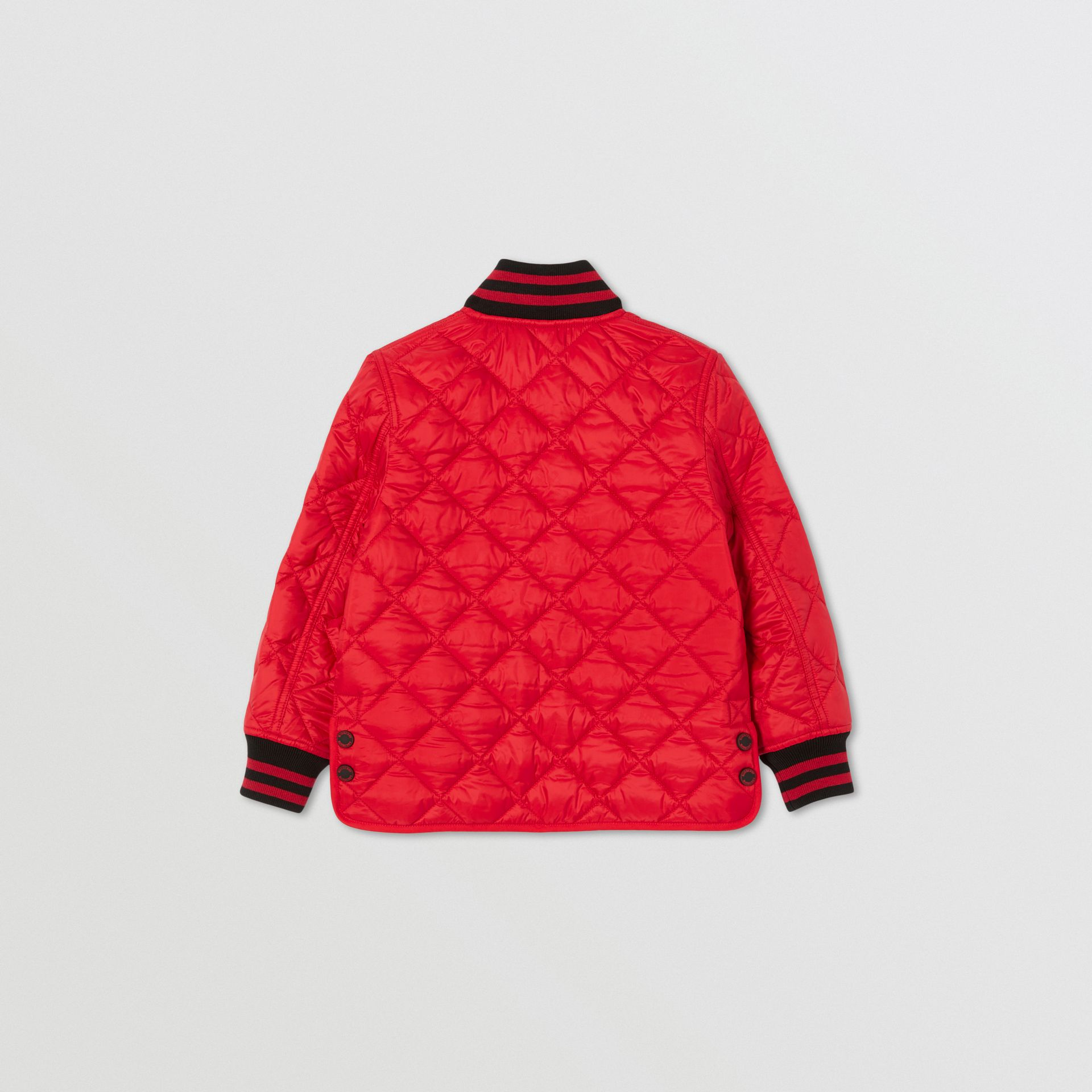 Recycled Polyester Diamond Quilted Jacket in Bright Red | Burberry United Kingdom - gallery image 4