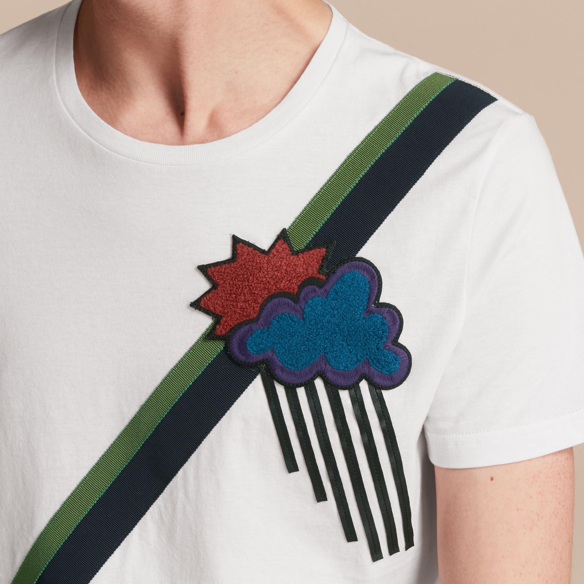 Weather Appliqué Cotton T-shirt - gallery image 5