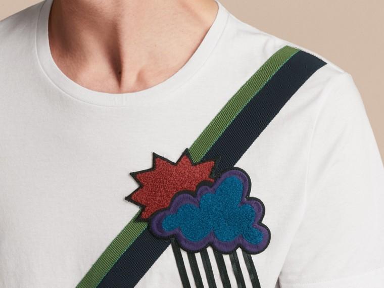 Weather Appliqué Cotton T-shirt - cell image 4