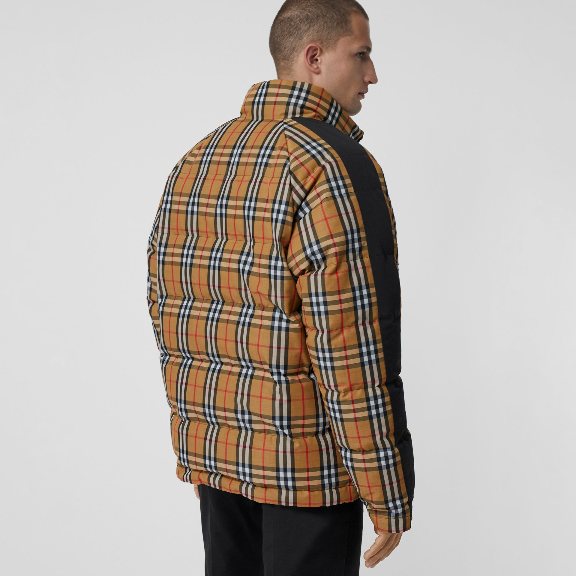 Reversible Vintage Check Down-filled Puffer Jacket in Antique Yellow - Men | Burberry United Kingdom - gallery image 2