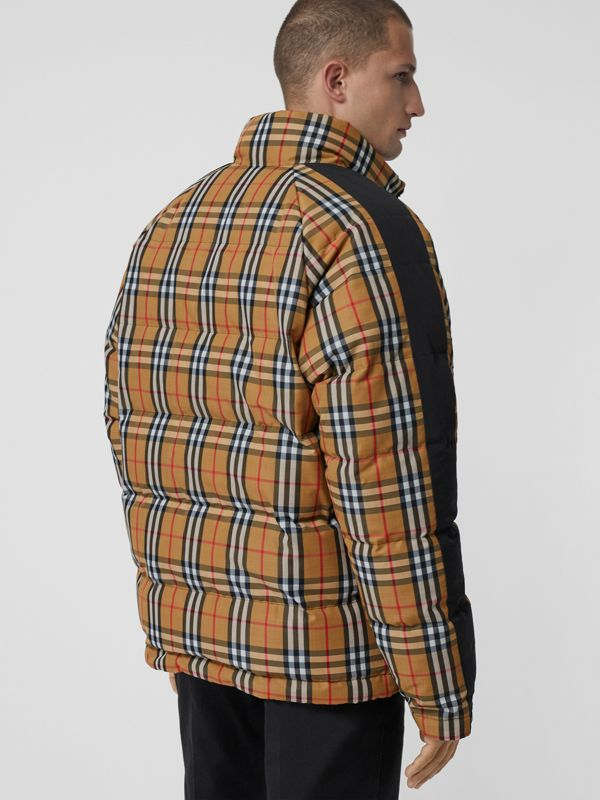 Reversible Vintage Check Down-filled Puffer Jacket in Antique Yellow - Men | Burberry Hong Kong - cell image 2