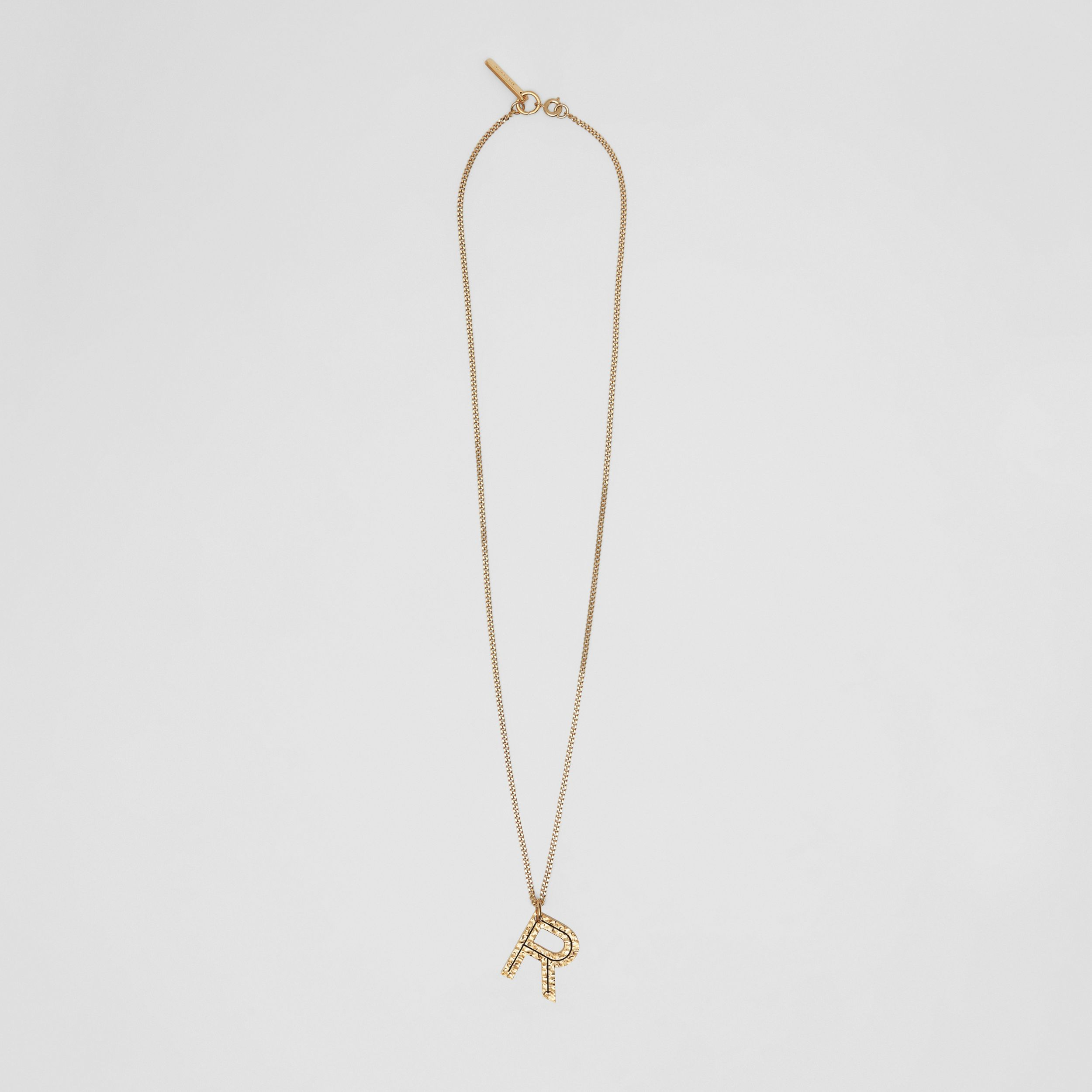 'R' Alphabet Charm Gold-plated Necklace in Light - Women | Burberry - 1