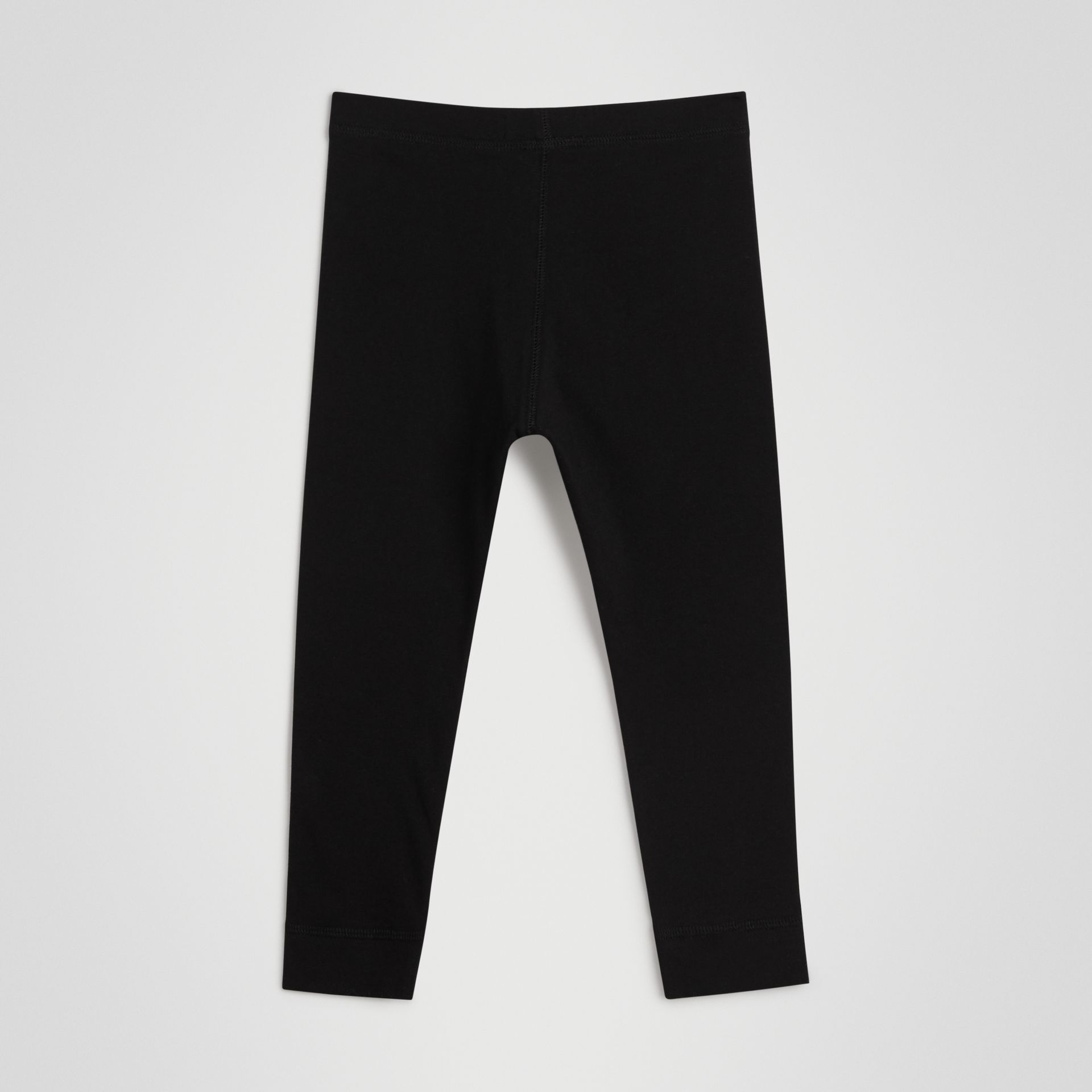 Legging en coton extensible avec logo (Noir) | Burberry - photo de la galerie 3