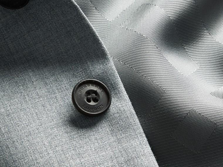 淺混合灰 現代剪裁羊毛與緞面裁片背心 - cell image 1