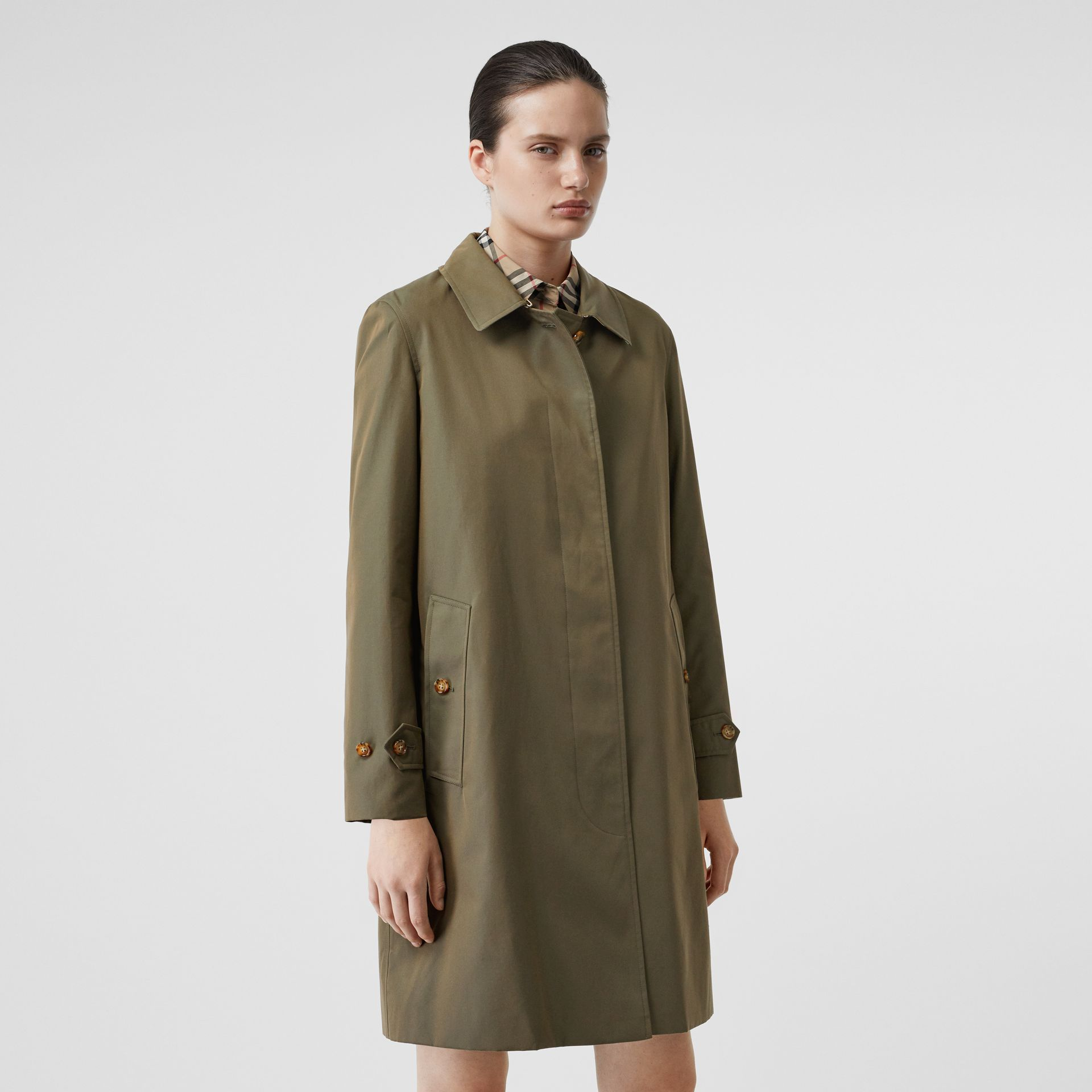 The Pimlico Heritage Car Coat in Oregano - Women | Burberry United Kingdom - gallery image 6