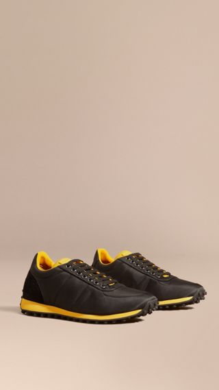 Textural Trim Technical Sneakers