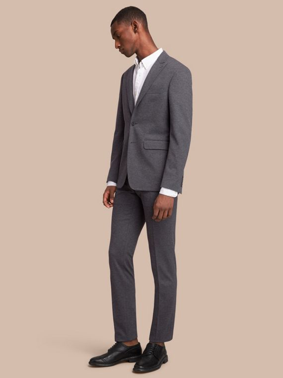Slim Fit Cotton Blend Travel Tailoring Suit - Men | Burberry Australia