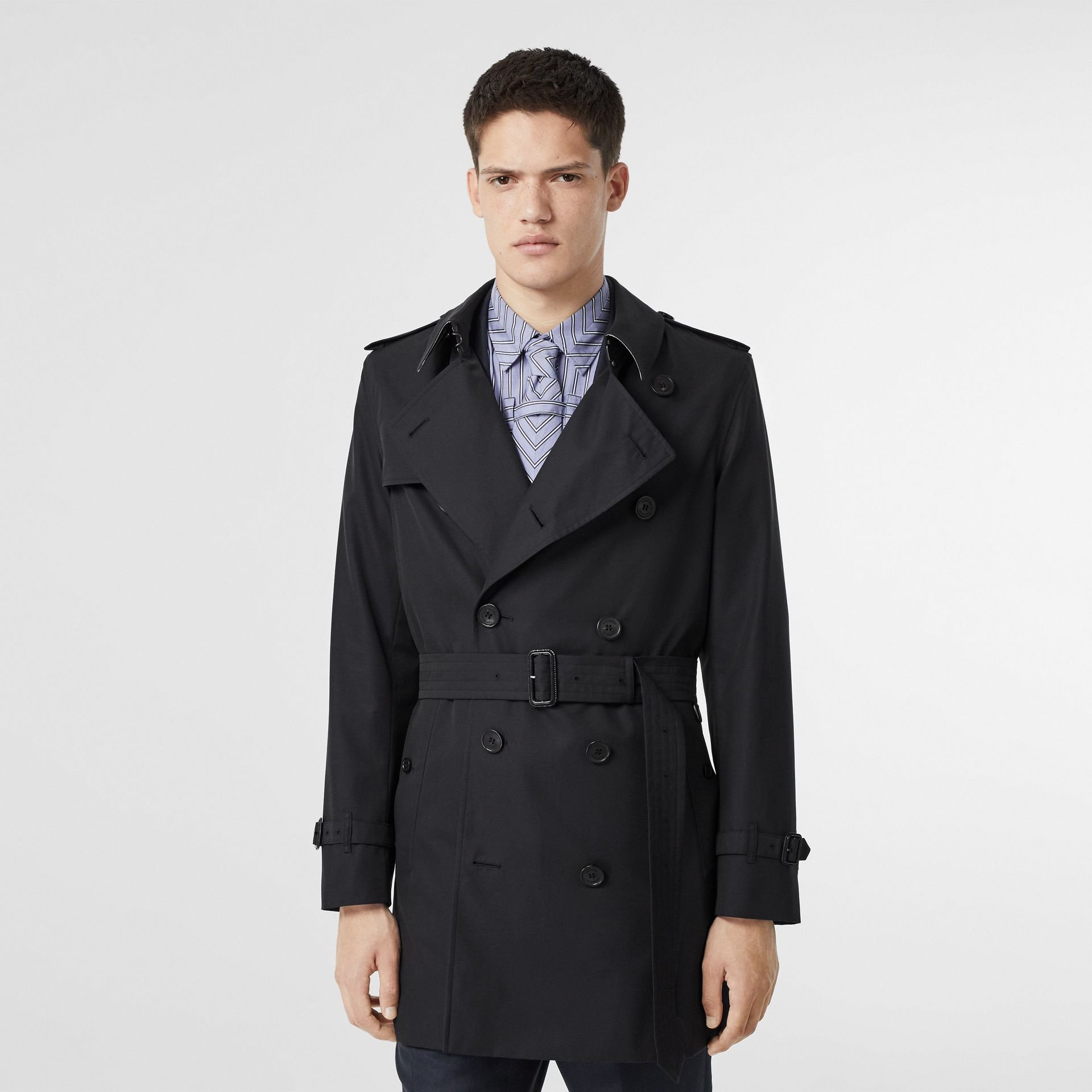 Cotton Gabardine Trench Coat in Midnight Navy - Men | Burberry Canada - gallery image 6