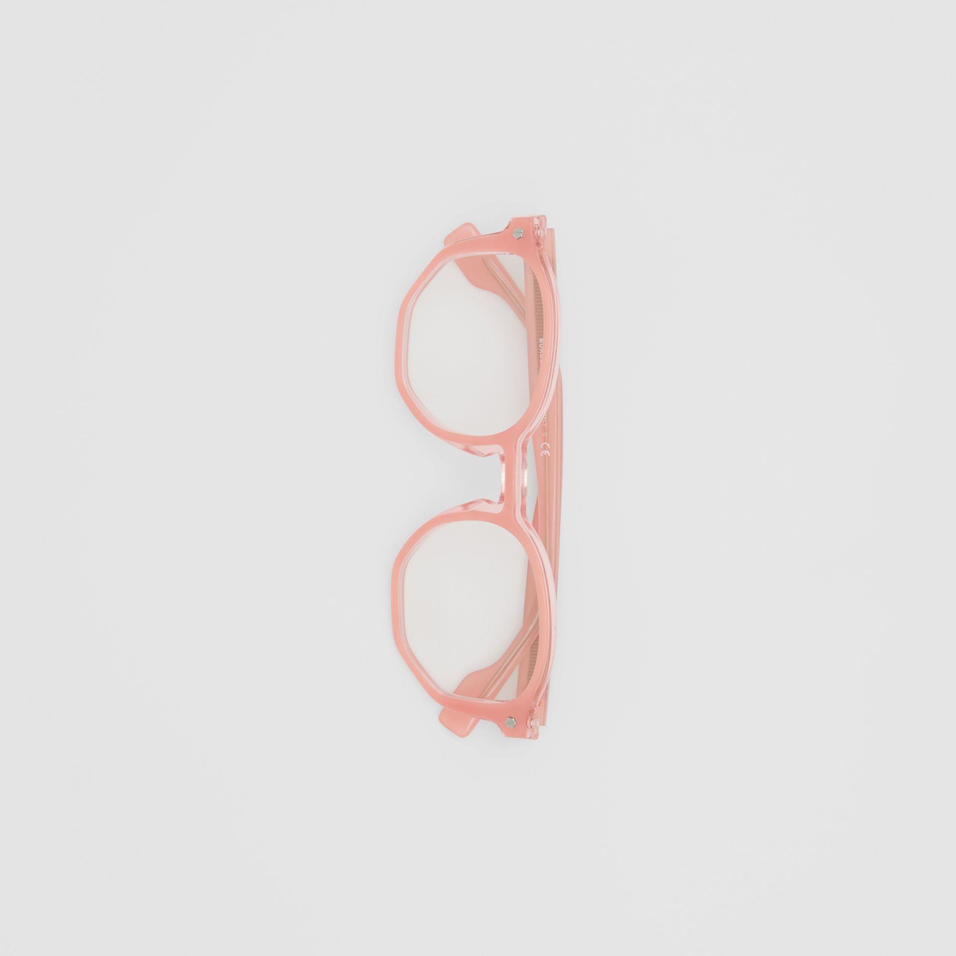 Geometric Optical Frames in Pink - Women | Burberry United Kingdom - gallery image 3