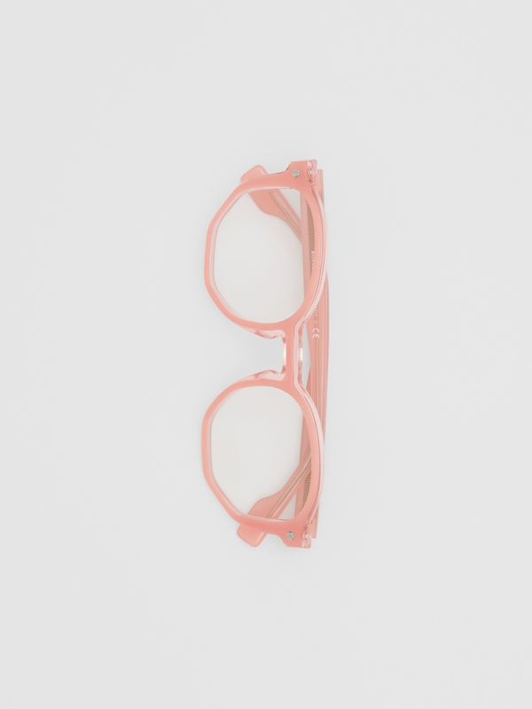 Geometric Optical Frames in Pink - Women | Burberry United Kingdom - cell image 3