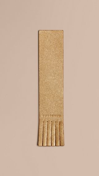 Twill Embossed Leather Bookmark