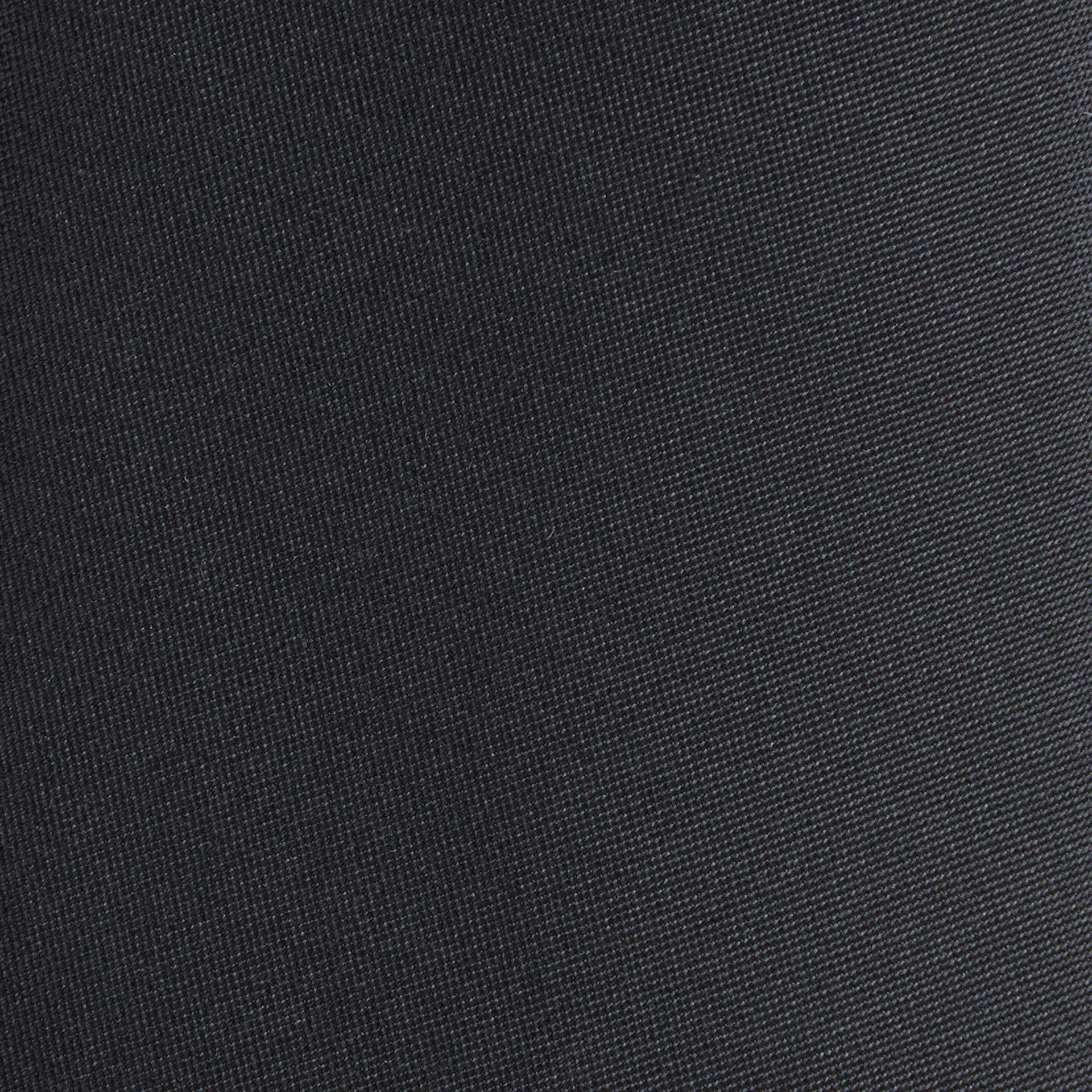 Black Modern Cut Silk Tie - gallery image 2