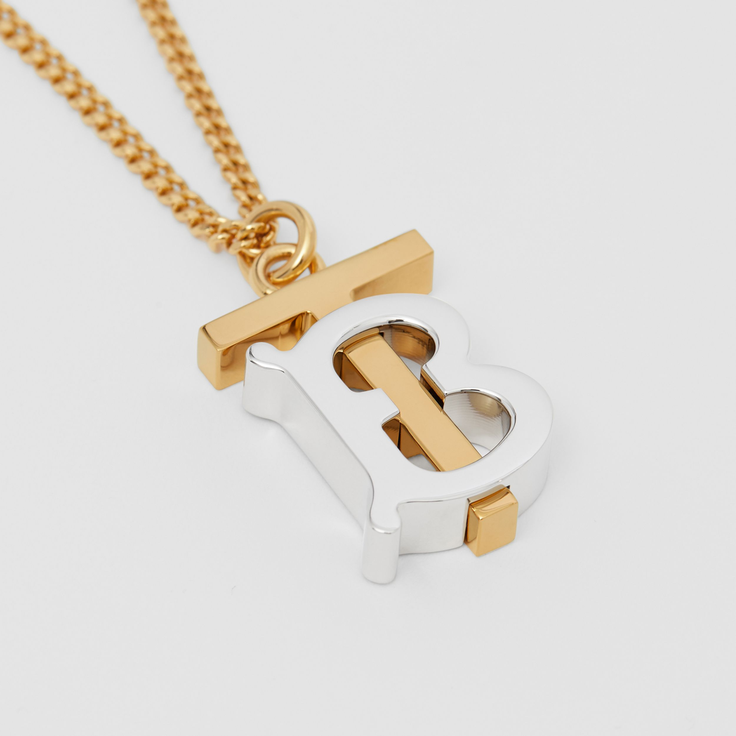 Collier plaqué or et palladium Monogram (Clair/palladium) - Femme | Burberry - 2