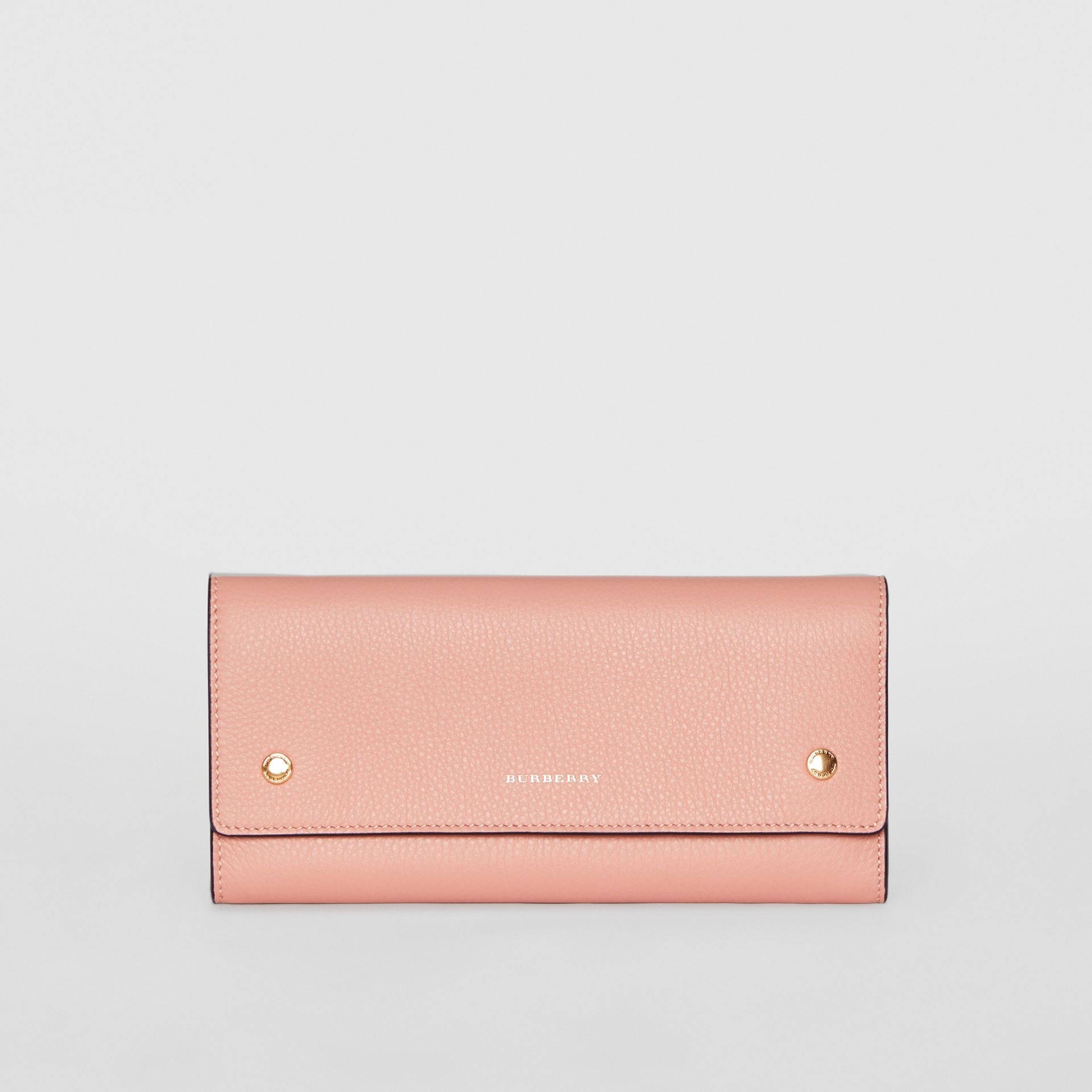 Leather Continental Wallet in Ash Rose - Women | Burberry - gallery image 0