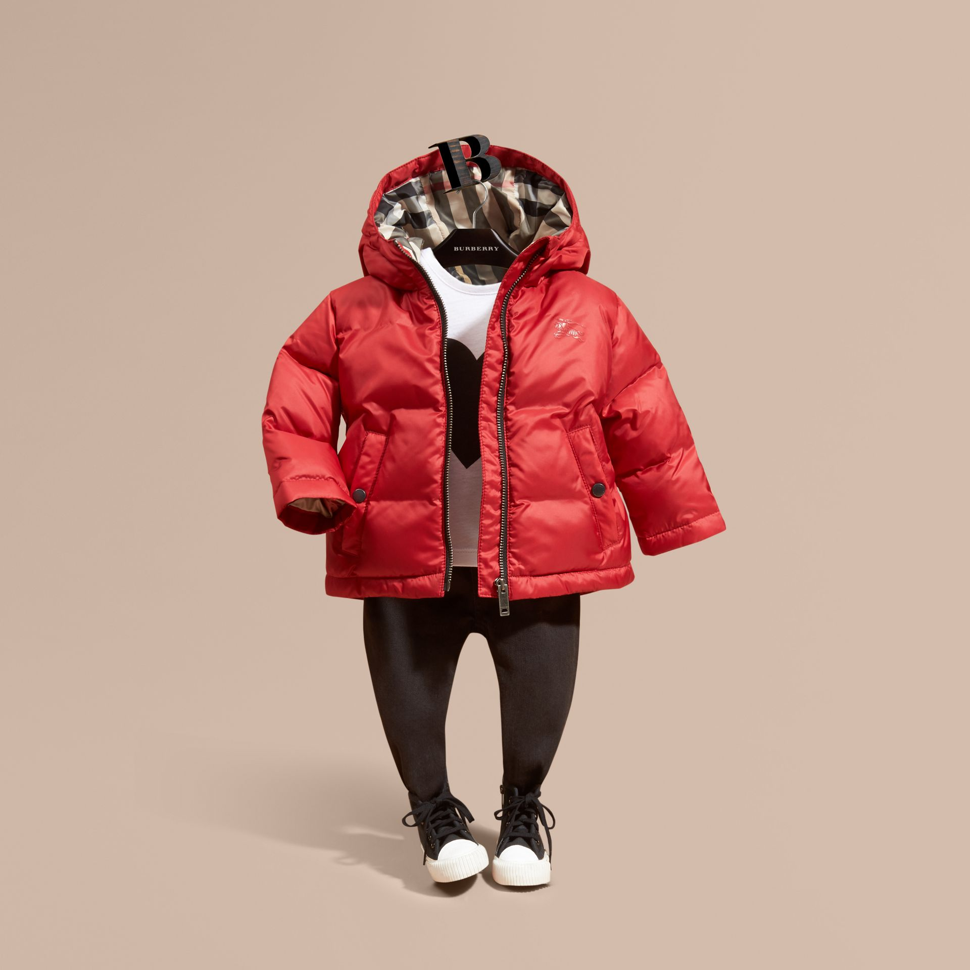 Hooded Down-filled Puffer Coat - gallery image 1