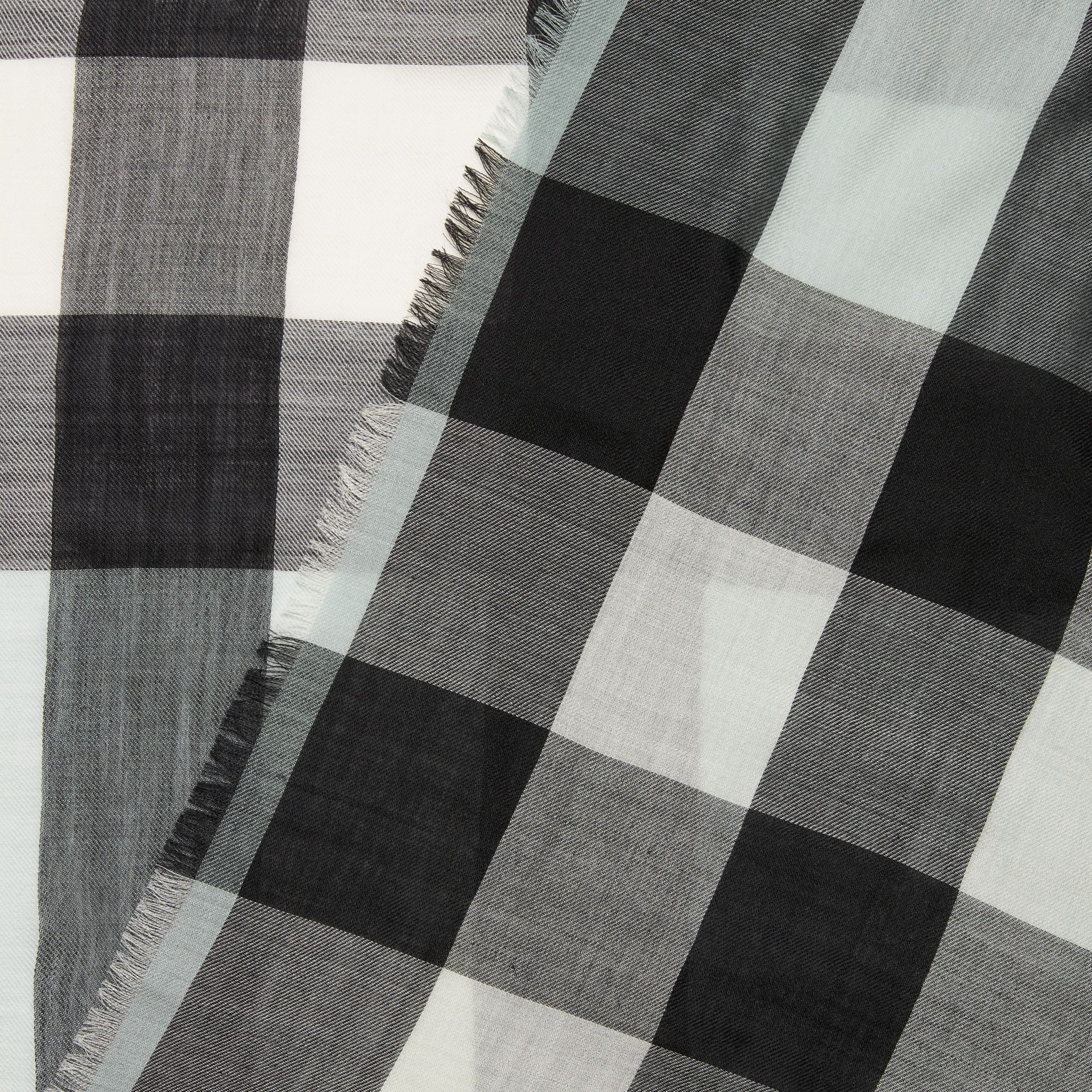 Lightweight Check Cashmere Scarf in Dusty Mint | Burberry United Kingdom - gallery image 1