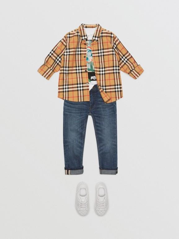 버튼 다운 칼라 빈티지 체크 셔츠 (앤티크 옐로)   Burberry - cell image 1