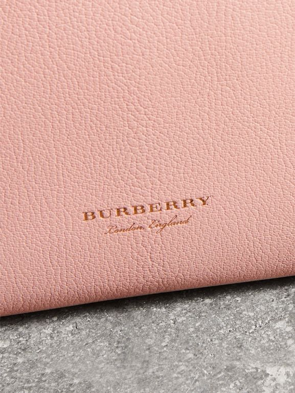 Grainy Leather Wristlet Clutch in Pale Ash Rose - Women | Burberry United Kingdom - cell image 1