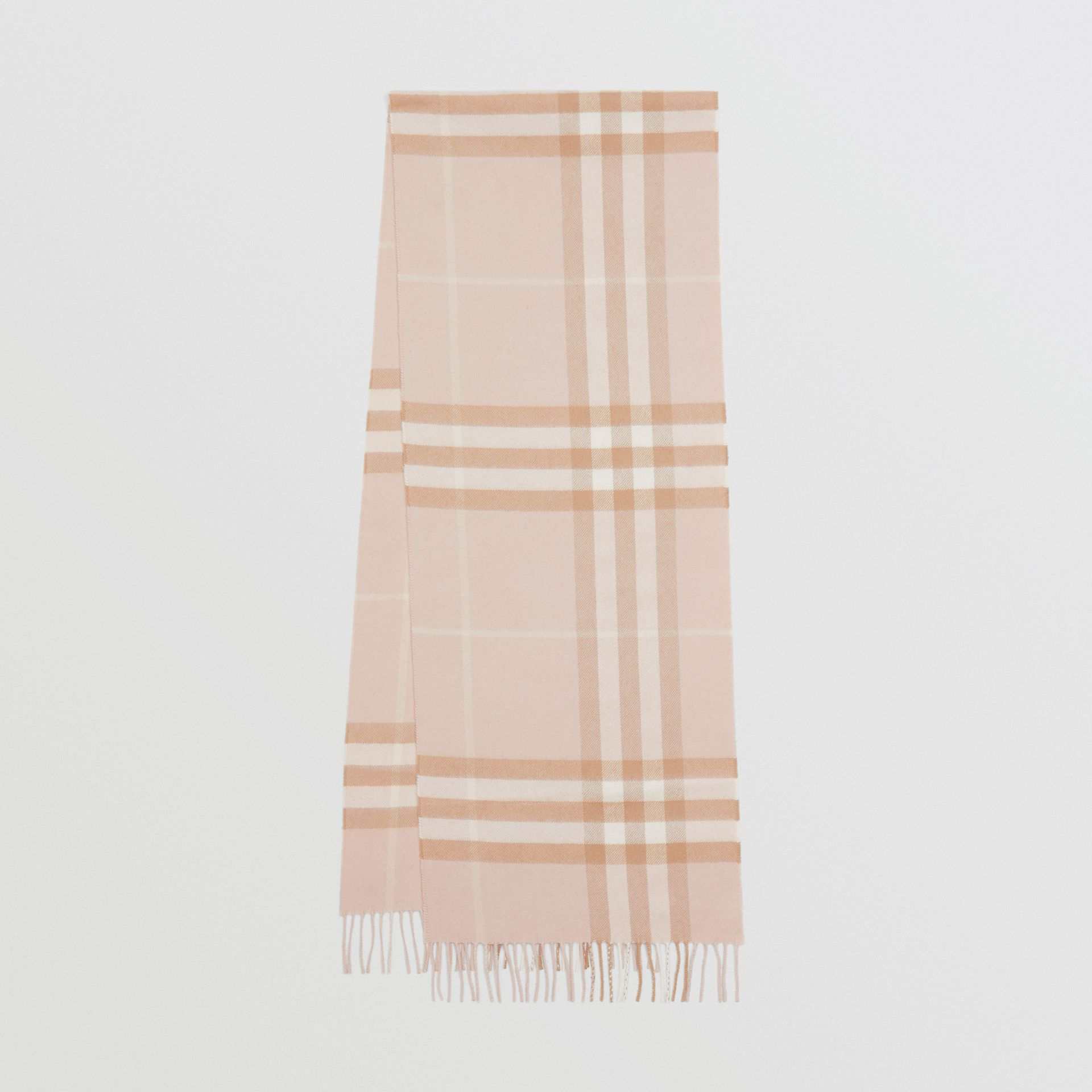 The Classic Check Cashmere Scarf in Blush | Burberry - gallery image 0