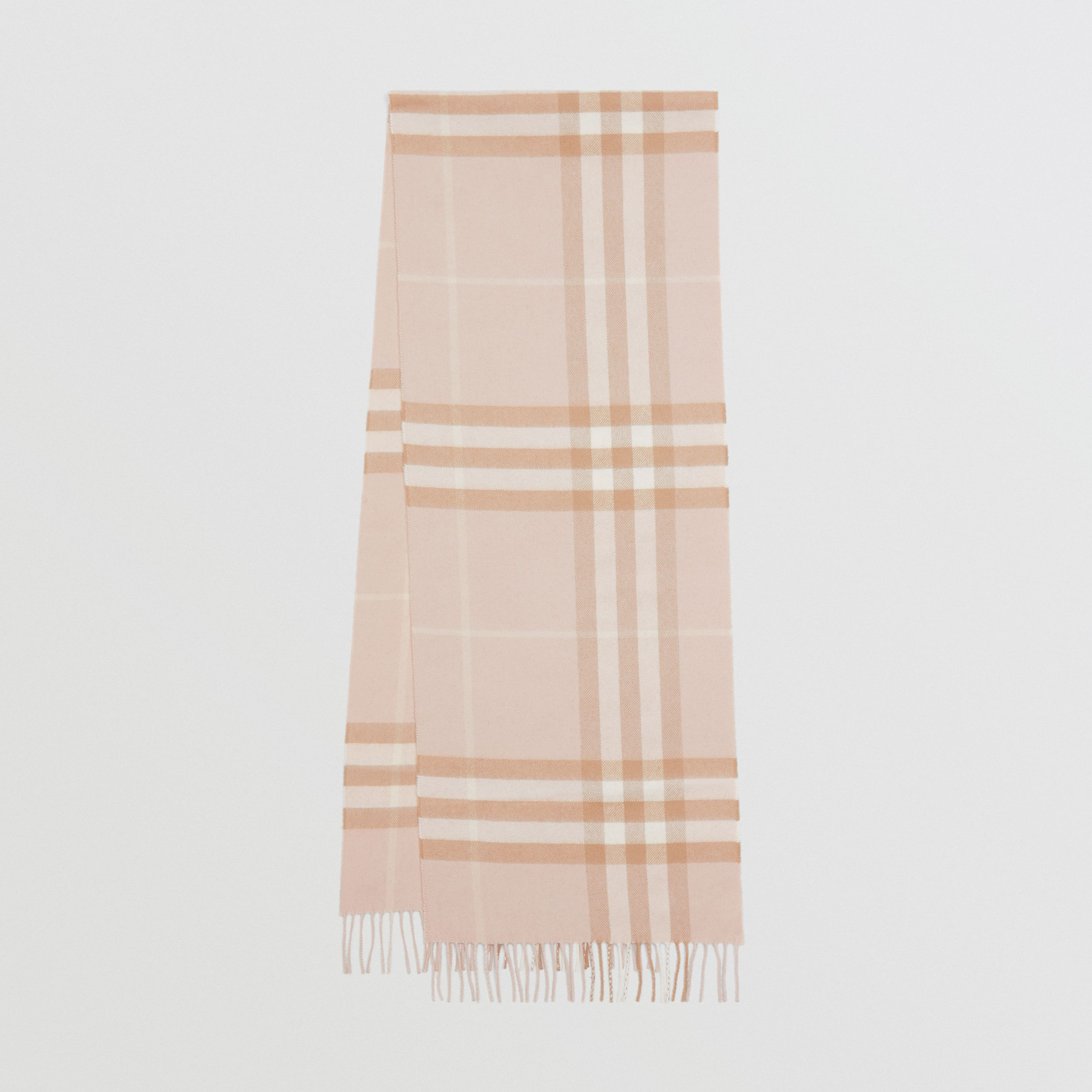 The Classic Check Cashmere Scarf in Blush | Burberry - 1