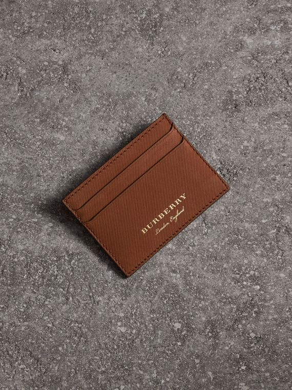 Trench Leather Card Case in Tan