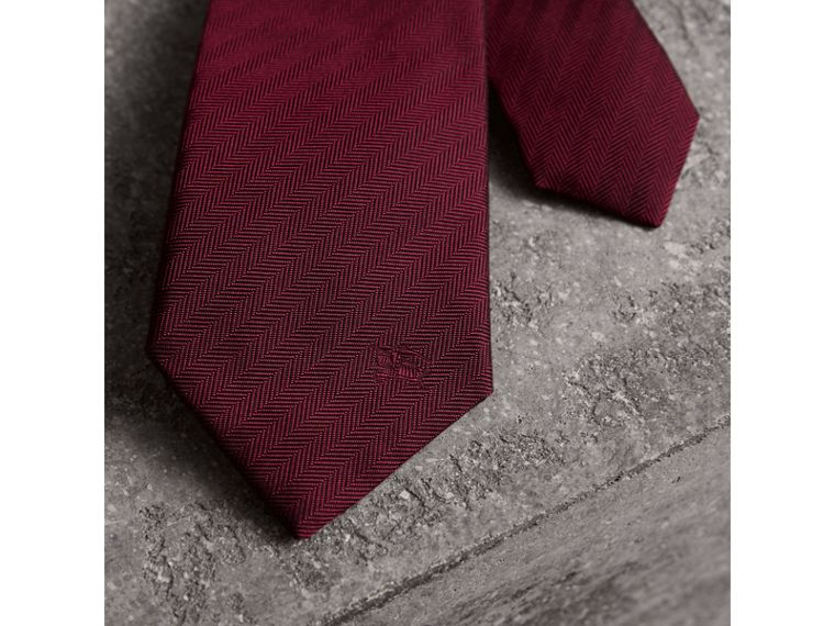 Modern Cut Silk Tie in Parade Red - Men | Burberry Hong Kong - cell image 1