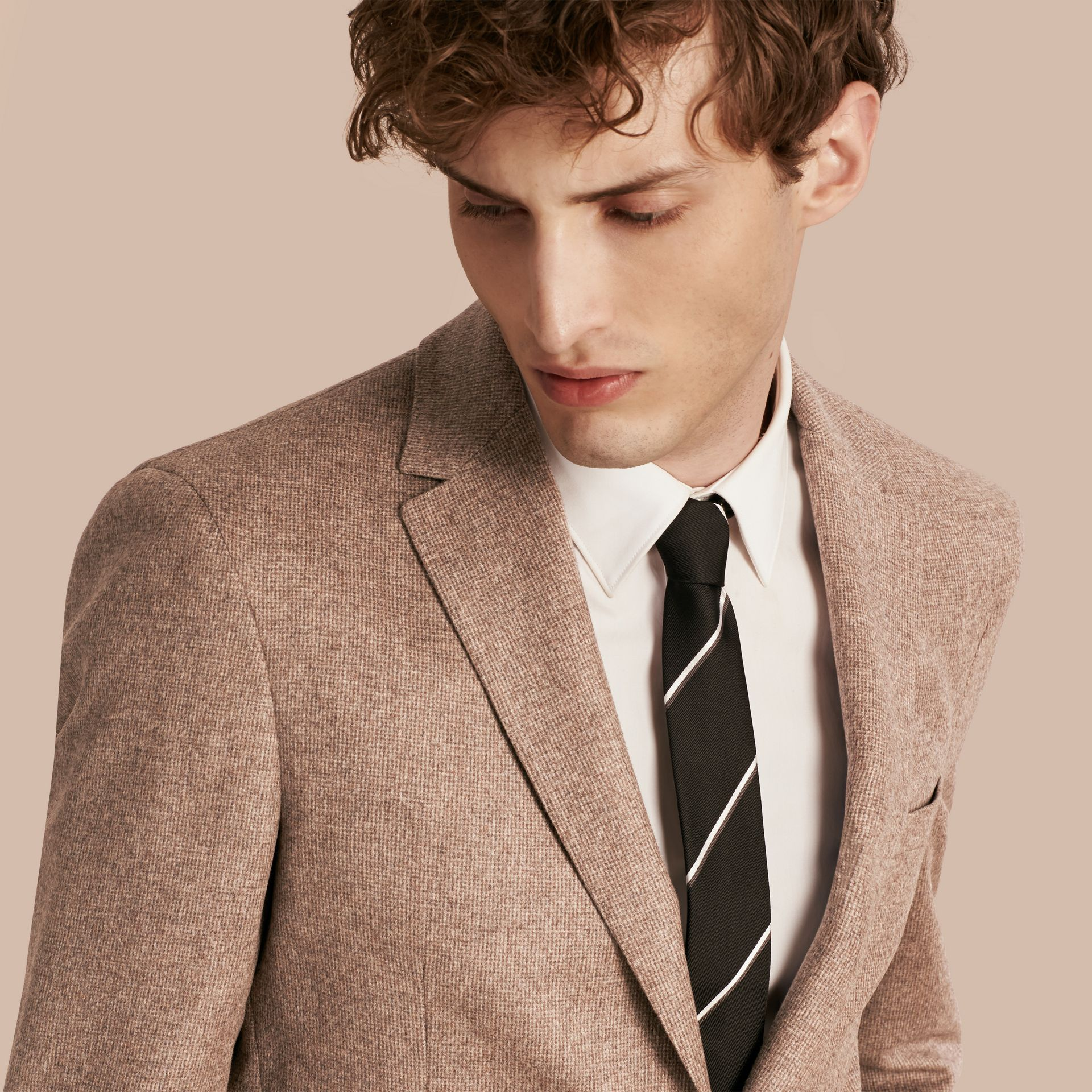 Camel Modern Fit Wool Cashmere Silk Tailored Jacket - gallery image 5