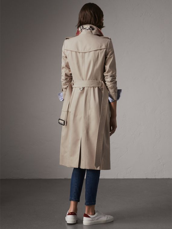 The Chelsea – Extra-long Trench Coat in Stone - Women | Burberry - cell image 2