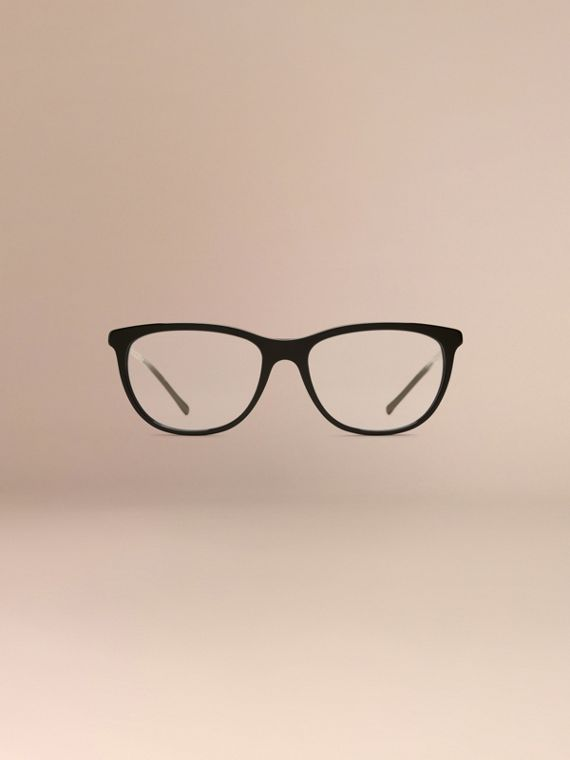 Black Gabardine Collection Cat-Eye Optical Frames Black - cell image 2