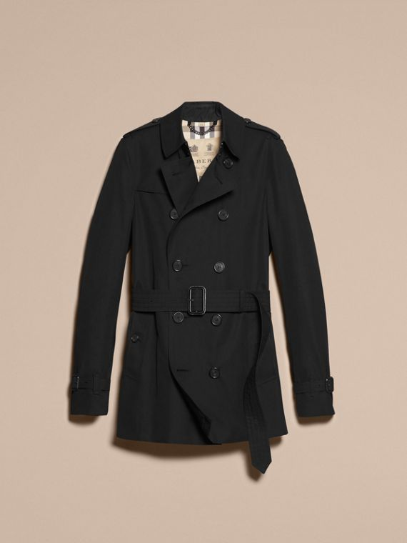 Black The Chelsea – Short Heritage Trench Coat Black - cell image 3