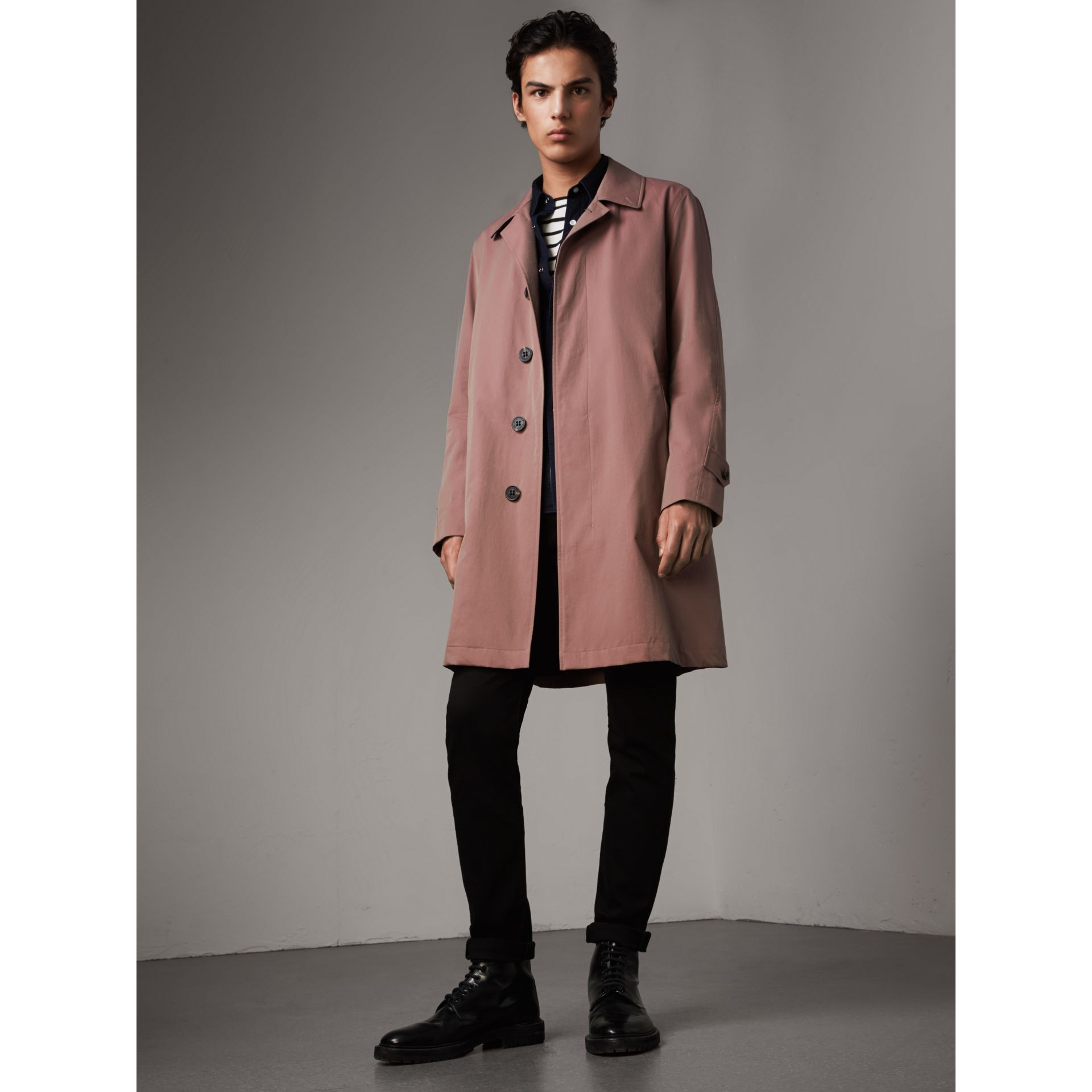 Tropical Gabardine Car Coat in Antique Rose - Men | Burberry - gallery image 1