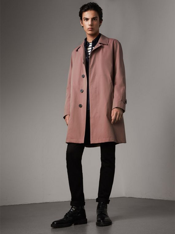 Tropical Gabardine Car Coat in Antique Rose - Men | Burberry Hong Kong