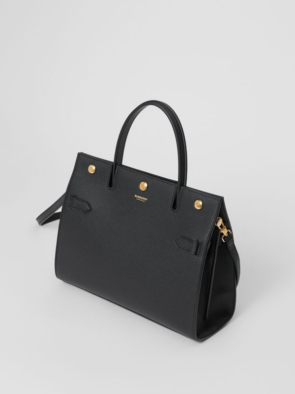 Small Leather Title Bag in Black - Women | Burberry - cell image 3