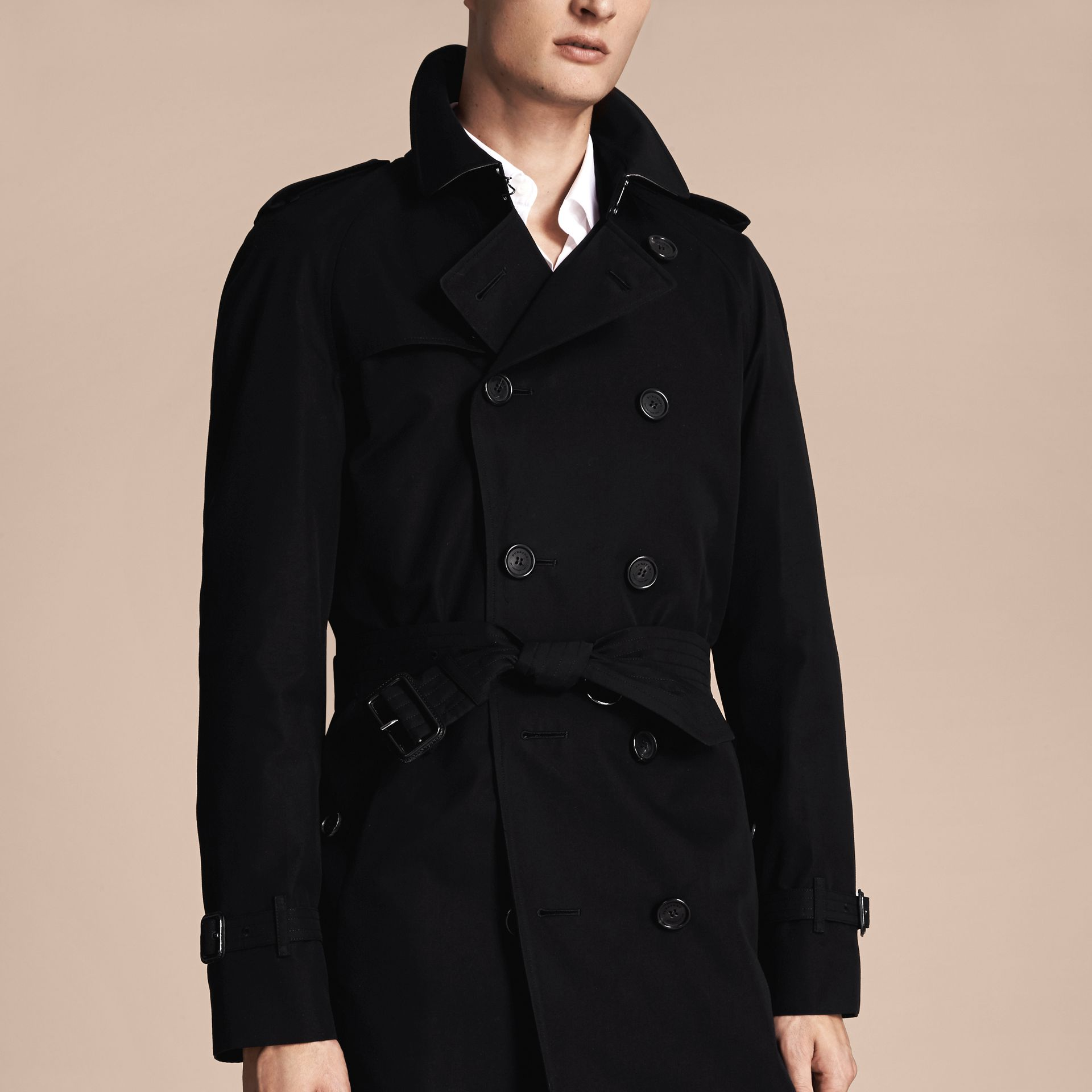 Black The Wiltshire – Long Heritage Trench Coat Black - gallery image 6
